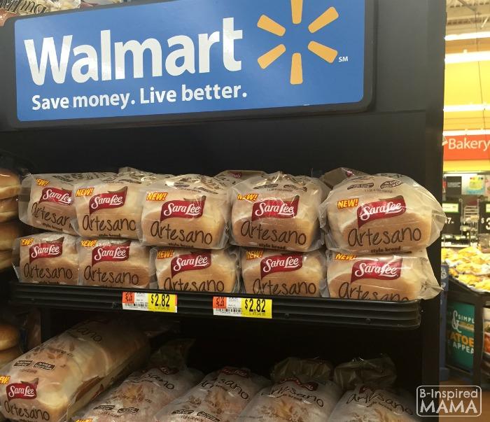 Apple and Ham Grilled Cheese Sandwich - Sara Lee Artesano Bread from Walmart