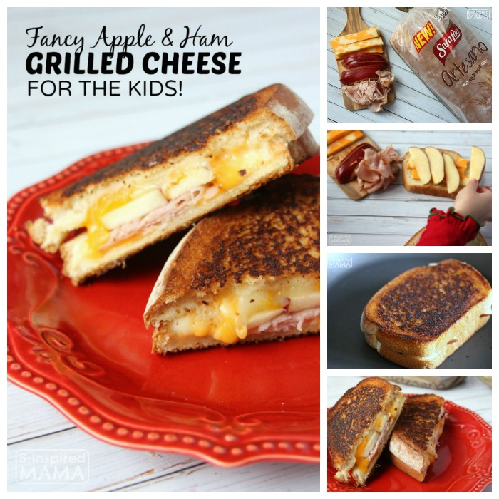 Apple and Ham Grilled Cheese Sandwich - at B-Inspired Mama