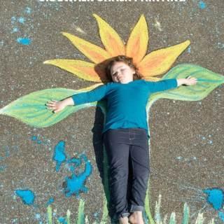 Flower Child Sidewalk Chalk Art – A Creative Kids Photo Op