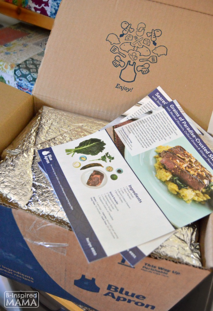 How Busy Moms can Cook Fancy Meals - A Blue Apron Review - My Blue Apron Box and Recipes - at B-Inspired Mama