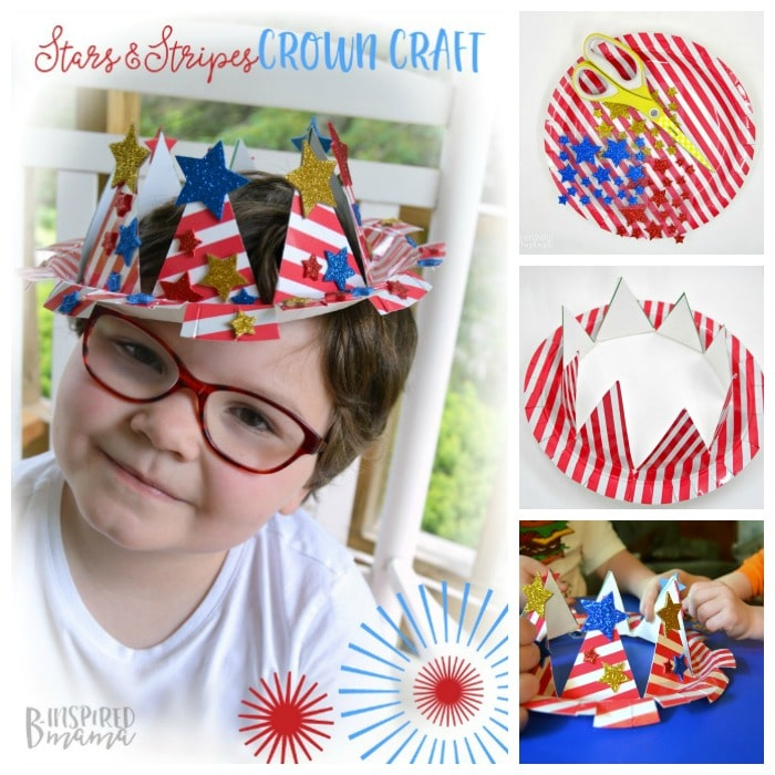Easy 4th of July Craft for Kids - A Patriotic Stars and Stripes Crown