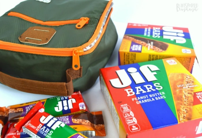 Jif Bars are perfect for lunch box treats + a Frozen Waffle Topping Buffet - A Fun and Easy Breakfast for Kids - at B-Inspired Mama
