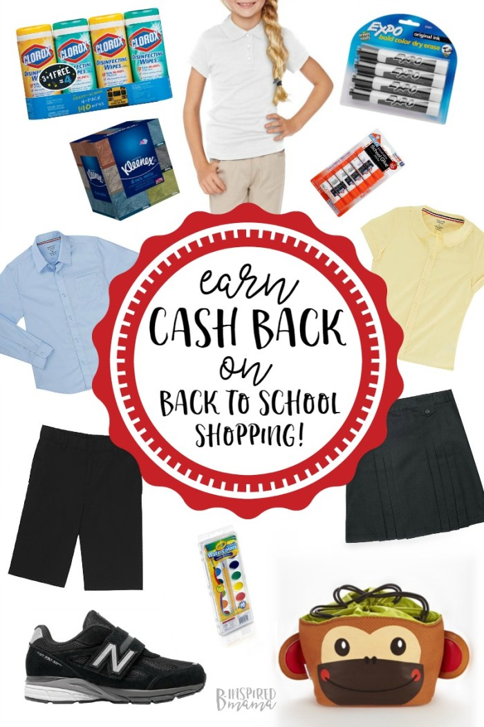 Earn Cash Back on School Shopping with Ebates