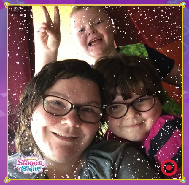 Our Glittery Selfy thanks to Shimmer and Shine at Target