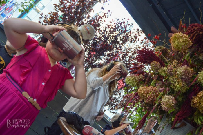 Checking out the virtual harvest at the Ocean Spray #CranberryClassroom in NYC