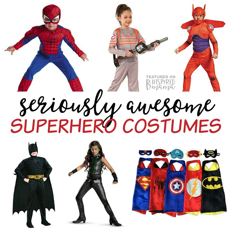 Seriously Awesome Superhero Costumes for Kids for Halloween - from classic capes to your kids favorite characters - at B-Inspired Mama
