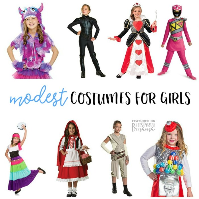Cute but Modest Girl Halloween Costumes - to keep our little girls little as long as we can - at B-Inspired Mama