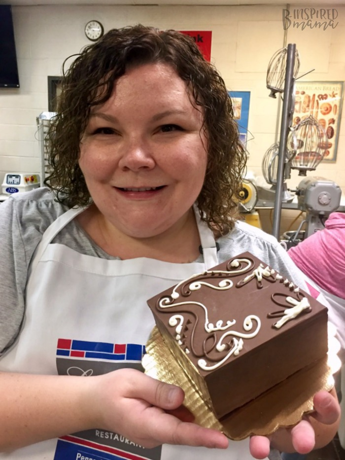 Making a Chocolate Box during my visit to the Penn College Cultinary Arts Program