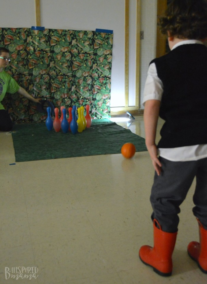 J.C. playing Pumpkin Bowling at the Harvest Party + Info about the New Lion Cub Scout Program