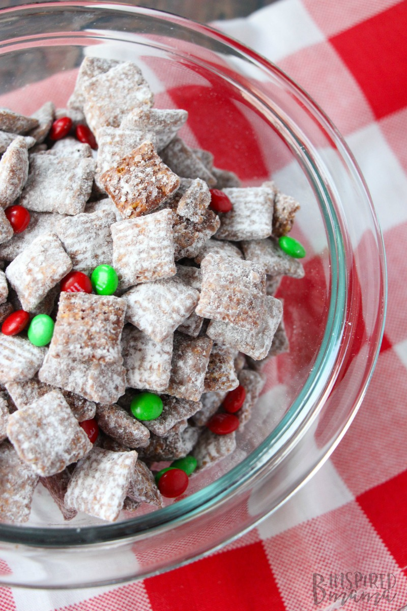 A super easy Christmas Muddy Buddies Recipe - Your Kids Will Remember Forever - at B-Inspired Mama