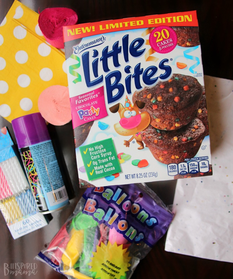 All the materials to fill a Fun Birthday in a Box - for that special child you can't see on her Birthday
