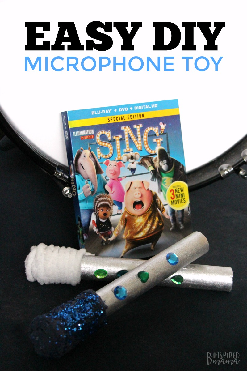 Easy DIY Kids Microphone Toy - Inspired by the Movie SING - Perfect for imaginative play and encouraging a love of music and dance