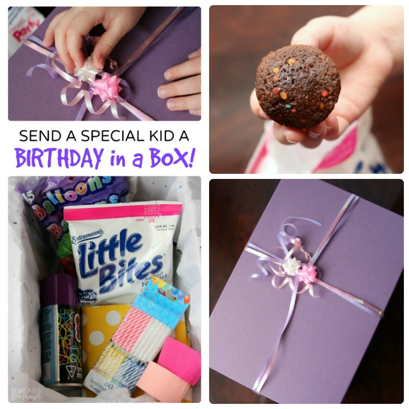 Send a fun Birthday in a Box - Perfect for that special child you can't see on her Birthday