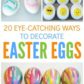 20 Eye-Catching Ways to Decorate Easter Eggs - Awesome egg decorating ideas to make Easter more fun and creative - at B-Inspired Mama