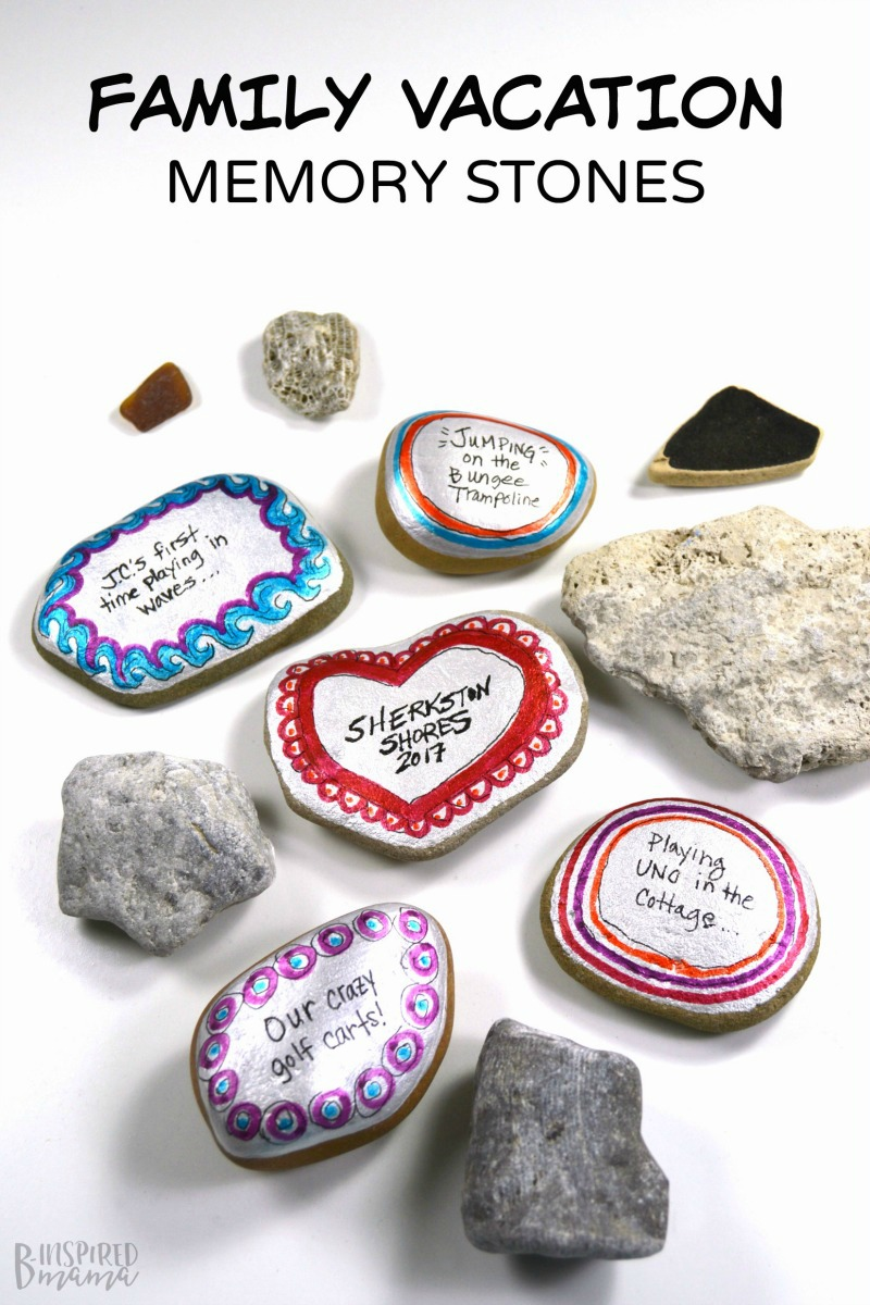 Make some painted stones to preserve those sweet summer family vacation memories! (Plus, learn about our favorite memories from our family vacation to Sherkston Shores!)