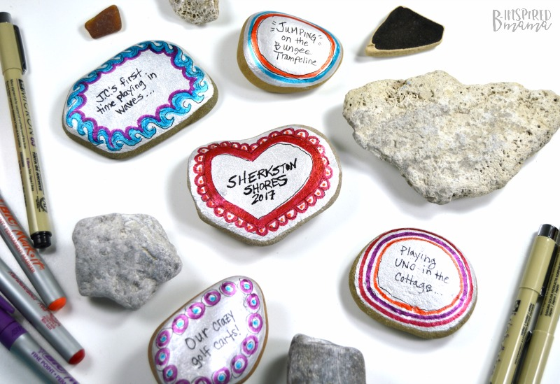 Family Vacation Memory Painted Stones - Perfect for preserving all the fun family vacation memories