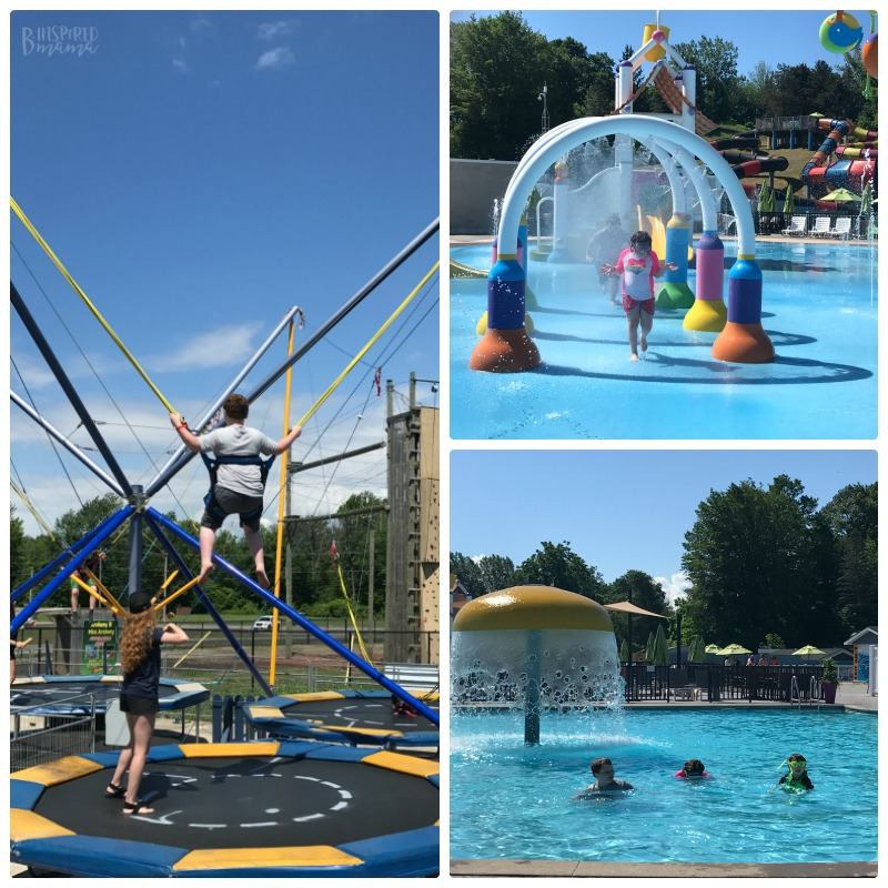 Our Sherkston Shores Vacation Memories - Having Fun at the Pool and the Trampoline