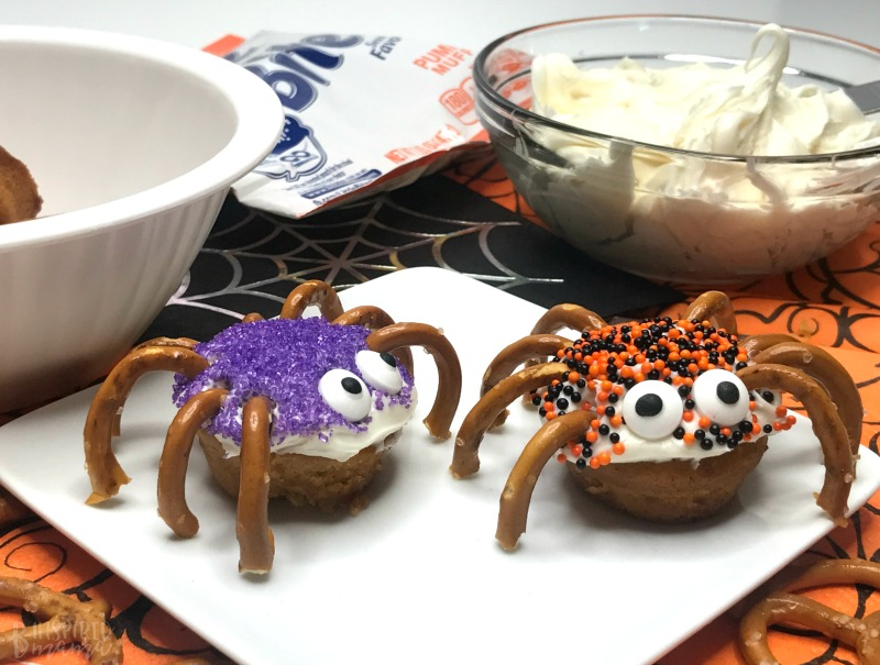 Spider Bites for a fun Halloween Snack for Kids