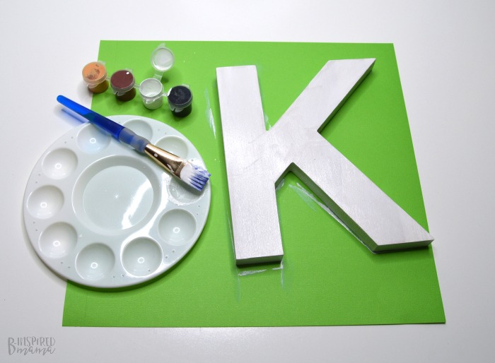 Cute Painted Letter Craft - Painting the base coat of white