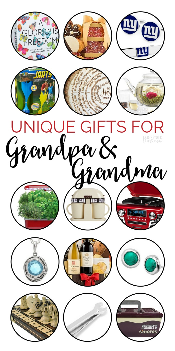 Fun gift ideas for the people who are the hardest to shop for on your holiday gift shopping list: the grandparents! | Unique Gifts for Grandpa and Grandma - A B-Inspired Gift Guide | #giftguide #gifts #christmas #holidays #shopping #grandpa #giftsforgrandpa #giftsforgrandma #grandma #binspiredmama #kbn #kbnmoms