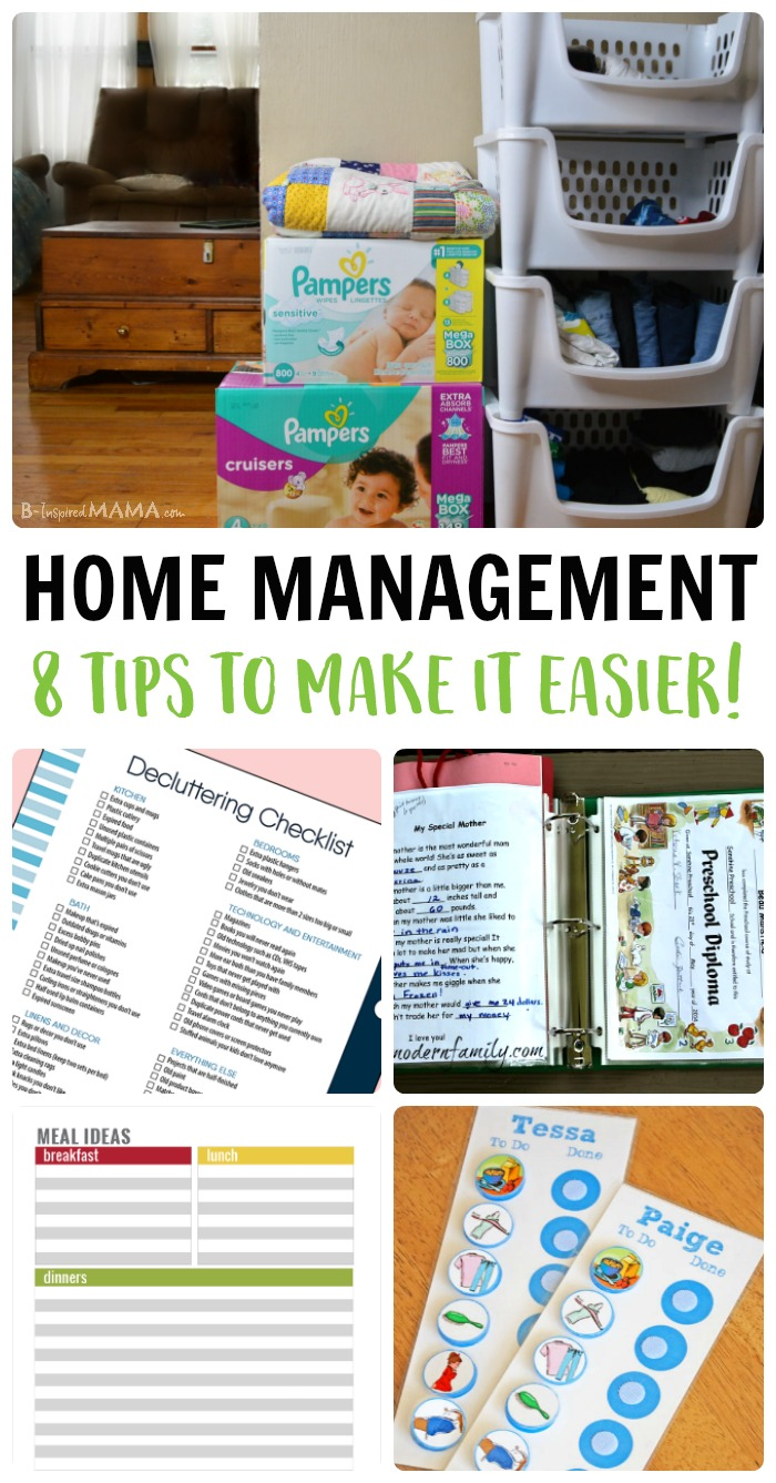 From laundry folding to meal planning, it's hard to be a busy mom and run a household! But I've got the BEST home management tips for MOMS right here! #home #moms #parenting #homemaking #housekeeping #housework #cleaning #organizing #organizedhome #homemanagement #kbn #kbnmoms #binspiredmama