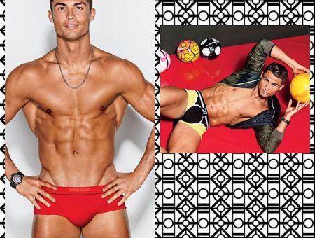 Cristiano Ronaldo & Alessandra Ambrosio by Ben Watts for GQmagazine