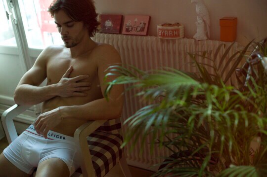 Raphaël Tosi @ East-west Models by Nicolas Aristidou in his Tommy Hilfiger for Un Homme Un Slip