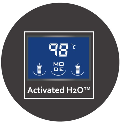 Activated H2O™加熱器顯示螢幕