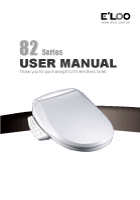 E'LOO Electronic Bidet 82 Series User Manual