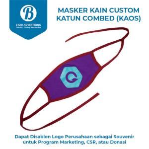 Masker Kain Katun Combed Sablon Logo