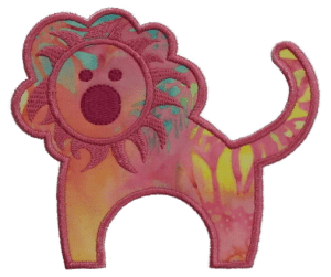 Lion with Satin Stitch