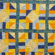 Angular Meander Quilting