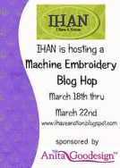 Machine Embroidery Blog Hop this Week