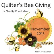 Quilter's Bee Giving Hosted by SewCalGal