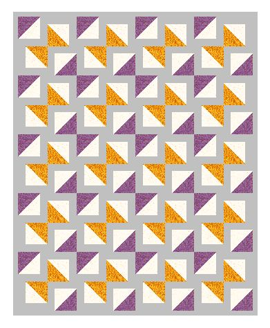 Patience corners half square triangles
