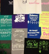 T-shirt quilt layout