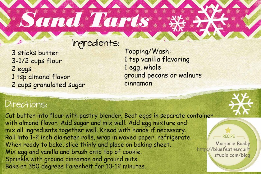 Sand Tarts recipe