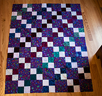 Comfort quilt from Found Four Patch Squares