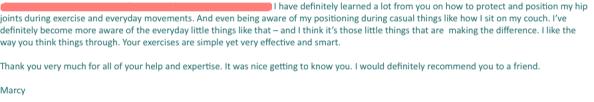 Marcy testimonial 2