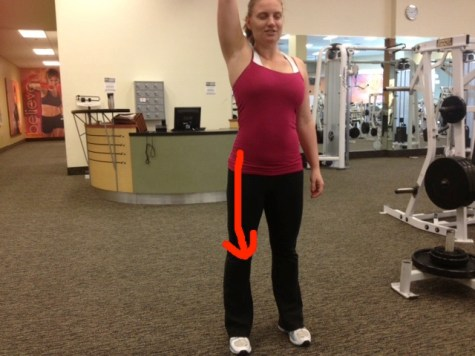 Arm Reach (external oblique) with arrow