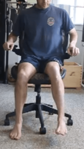 Seated hip internal range of motion