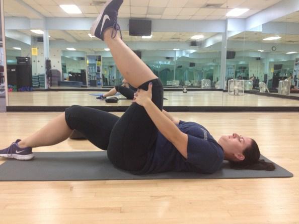 Supine Leg Kick Limited Knee Extension