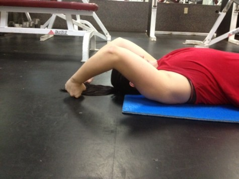 Supine Arm Raise slide half way up