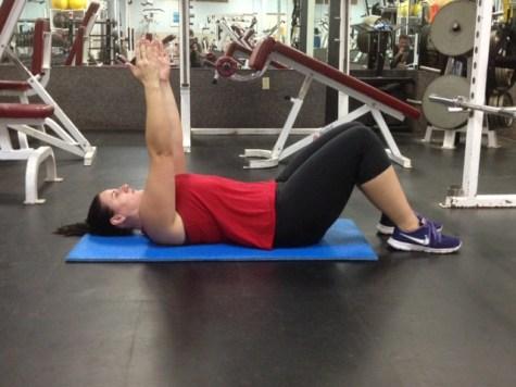 Supine Arm raise straight arm mid point