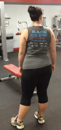 Standing on one leg lateral pelvic tilt