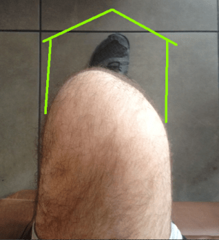 Seated knee alignment good with arrows