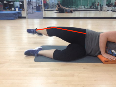 Side Lying Leg Lift Good Abduction with lines