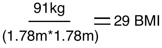 BMI 200 pounds 5 feet 10