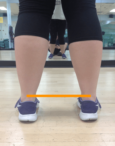 Standing Feet Straight with line