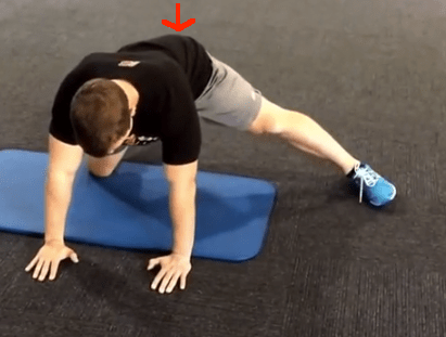 Split Stance Adductor with arrow